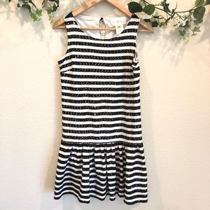 Julie brown black and white striped dress size S